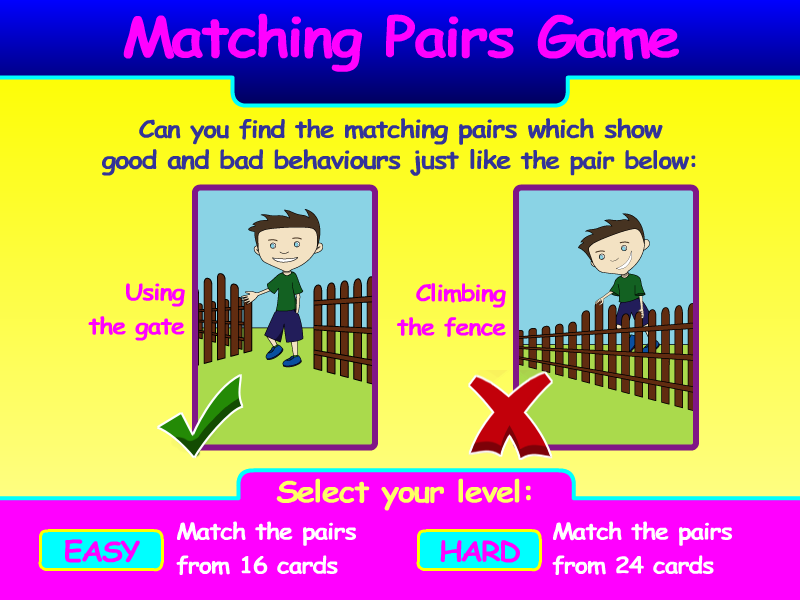 Preview of Game Matching Pairs